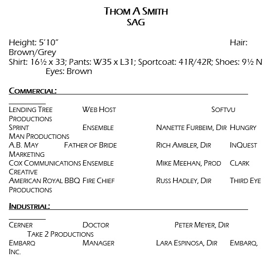 free acting resume template 13