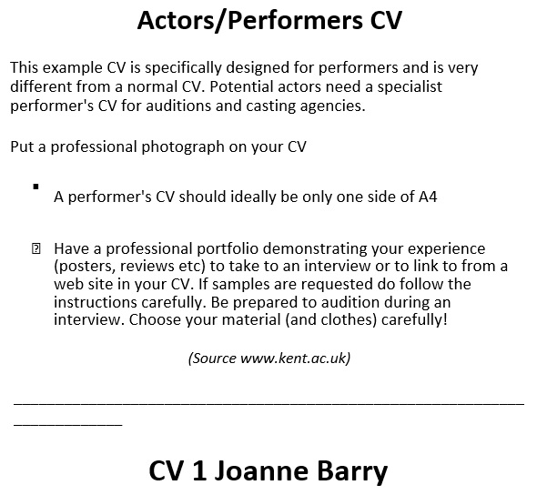 free acting resume template 18