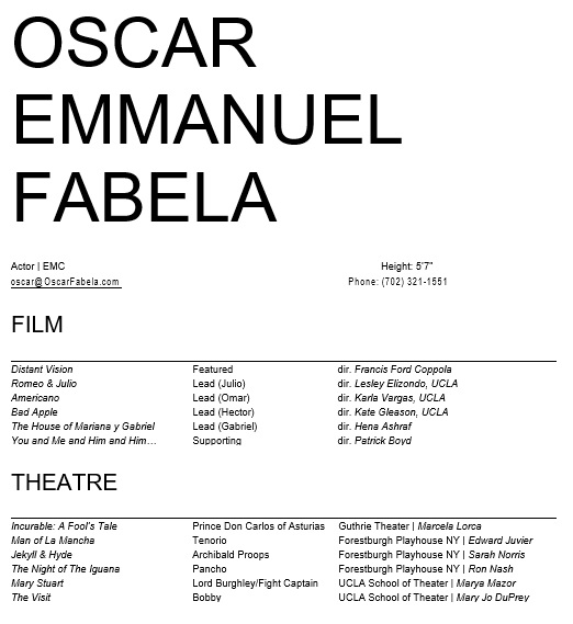 free acting resume template 4