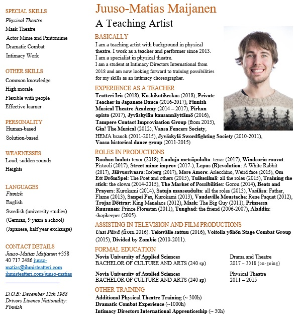 free acting resume template 7