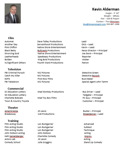 free acting resume template 8