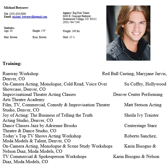 free acting resume template 9