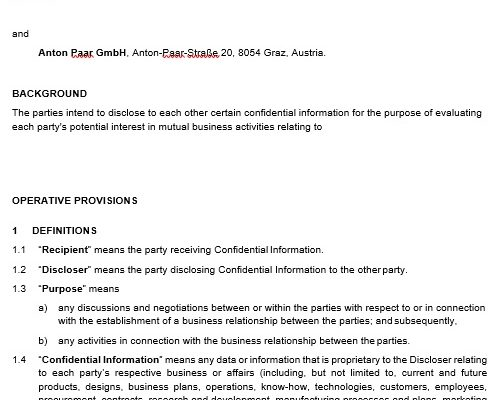 free confidentiality agreement template 2