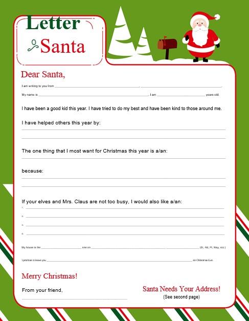 printable christmas letter template 10