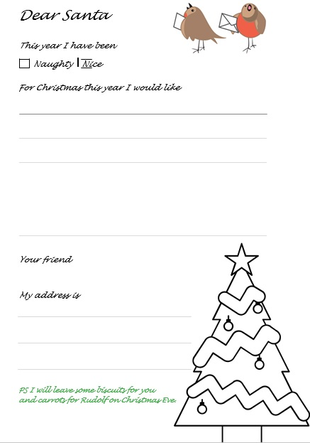 printable christmas letter template 11