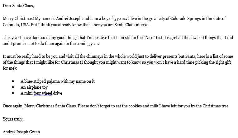 printable christmas letter template 2
