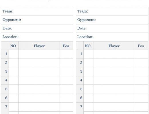 blank baseball lineup card template