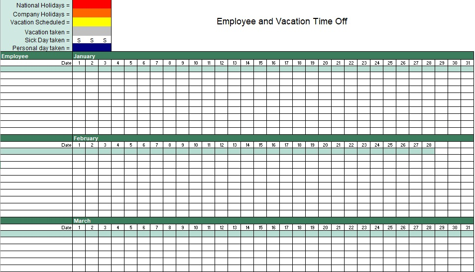employee vacation time off