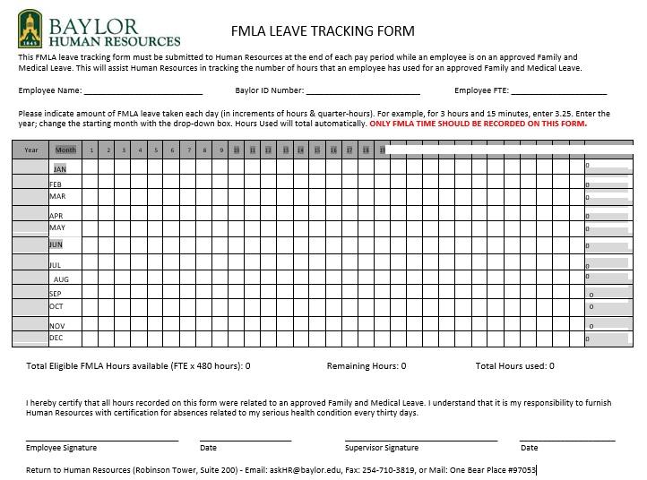 fmla leave tracking form
