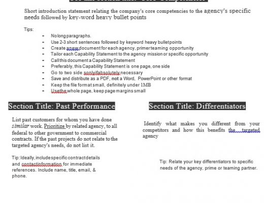 free capability statement template 11
