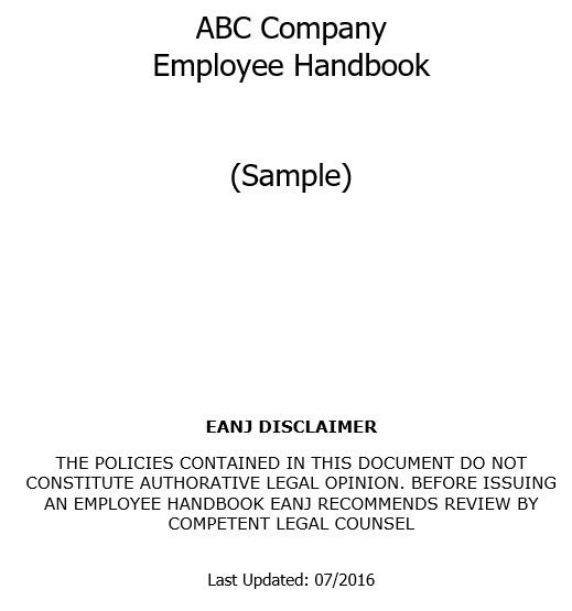 free employee handbook template 5