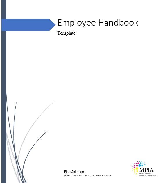 free employee handbook template 9
