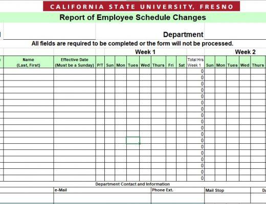 free employee schedule template 12