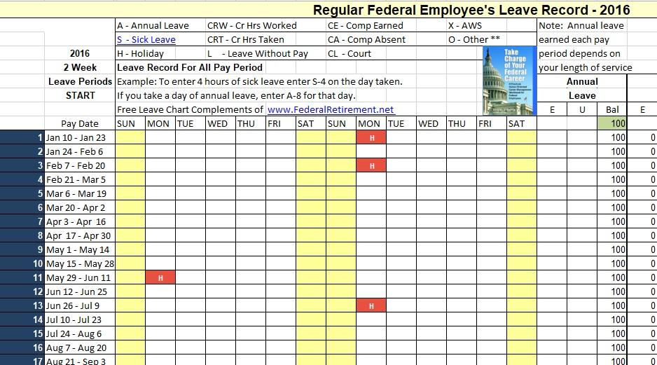 free employee vacation tracker 4