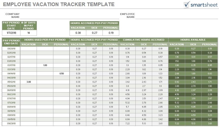 free employee vacation tracker 5