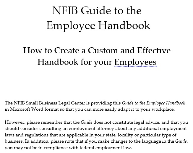 guide to the employee handbook template