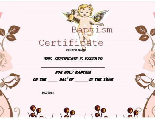 printable baptism certificate template 18