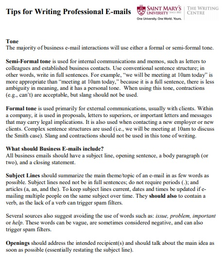 tips for writing professional email