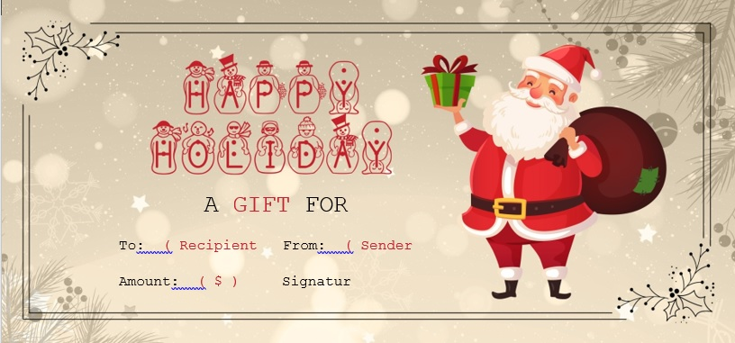 free christmas gift certificate template 1