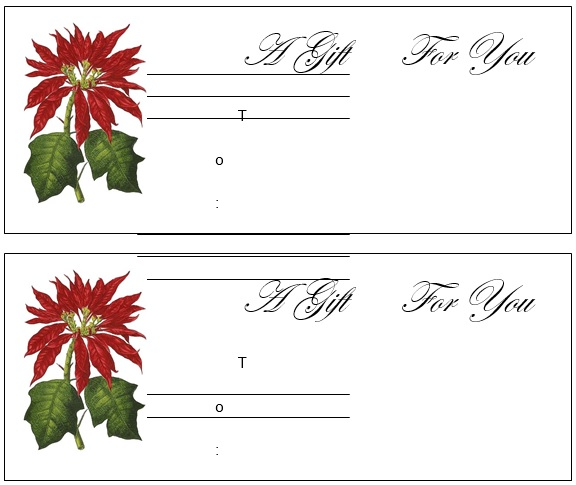 free christmas gift certificate template 11