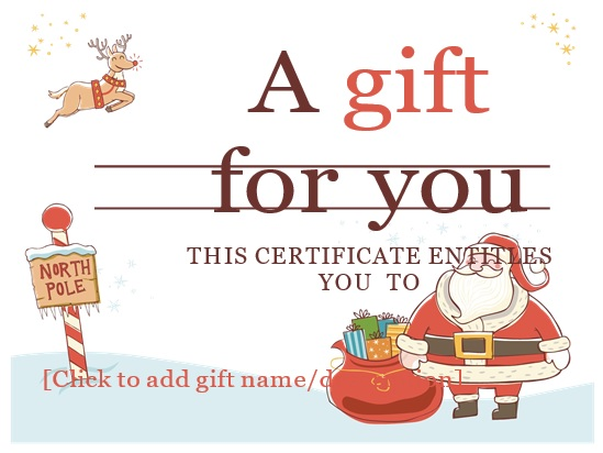 free christmas gift certificate template 13