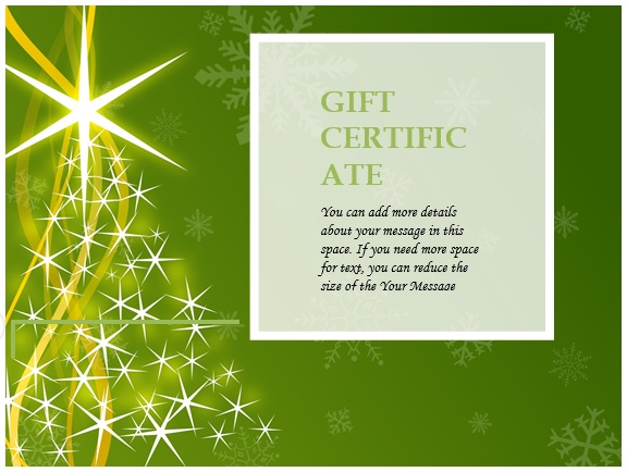free christmas gift certificate template 14