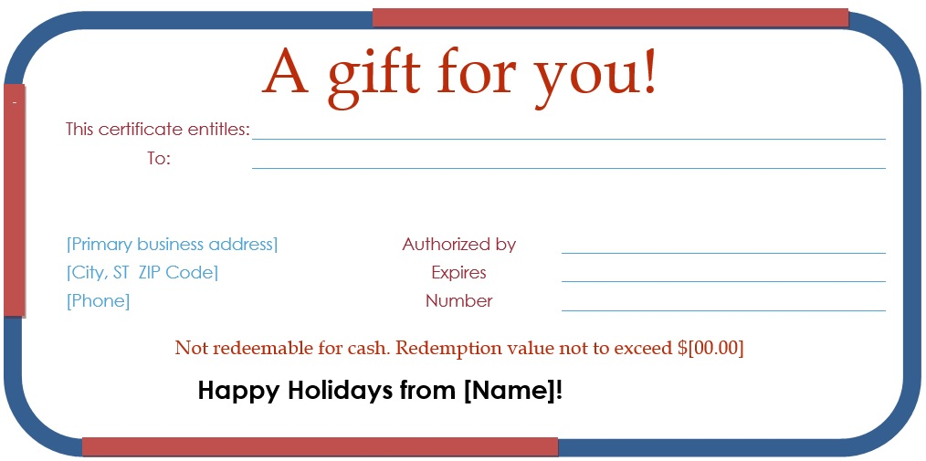 free christmas gift certificate template 15