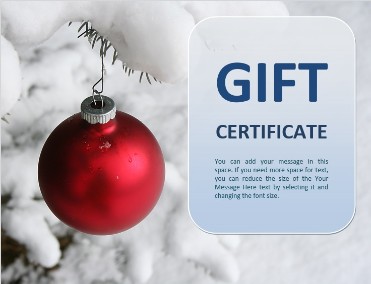 free christmas gift certificate template 16