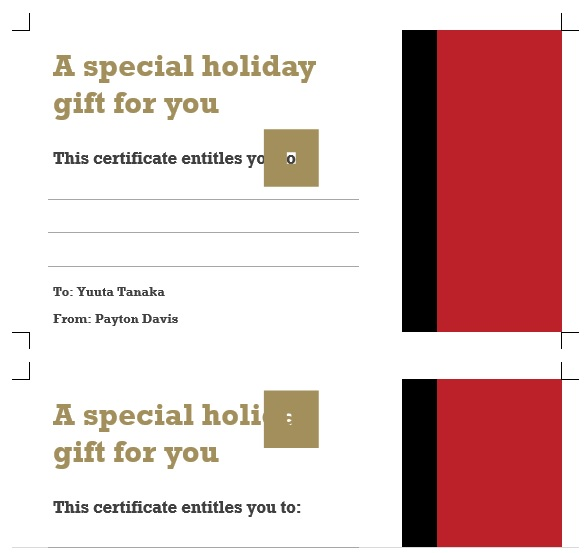 free christmas gift certificate template 2