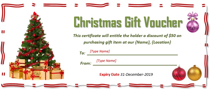 free christmas gift certificate template 20
