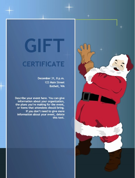 free christmas gift certificate template 21