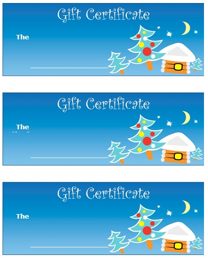 free christmas gift certificate template 3