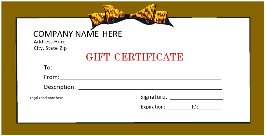 free christmas gift certificate template 4