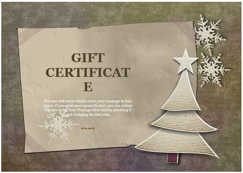 free christmas gift certificate template 5