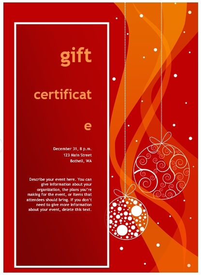 free christmas gift certificate template 7