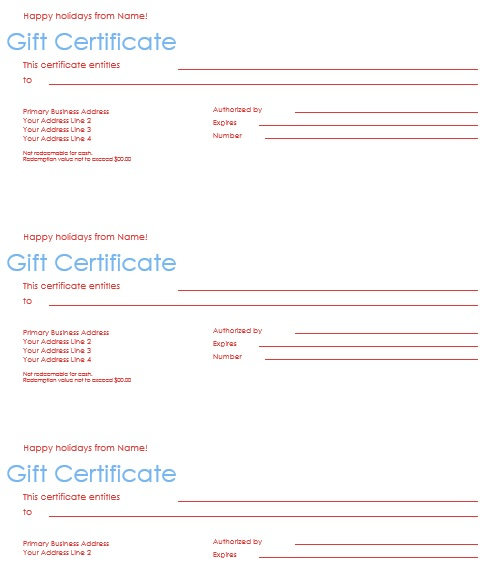 free christmas gift certificate template 8