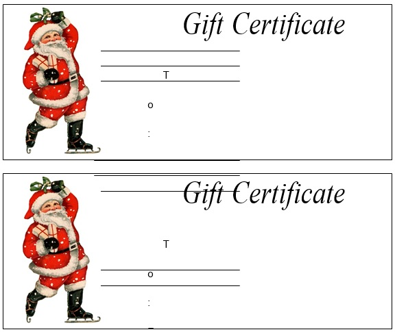 free christmas gift certificate template 9