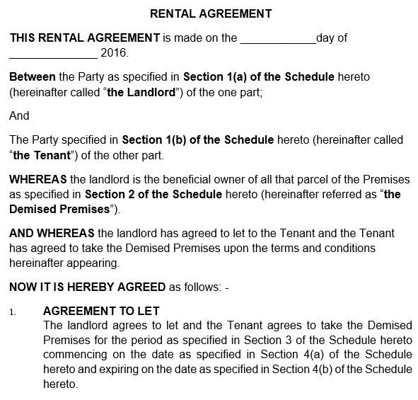 free rental application form 12