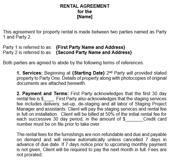 free rental application form 5