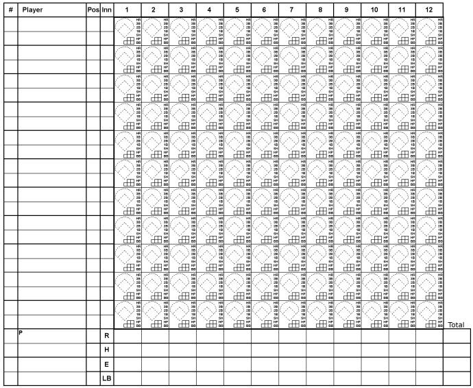 printable baseball scorecard template 19
