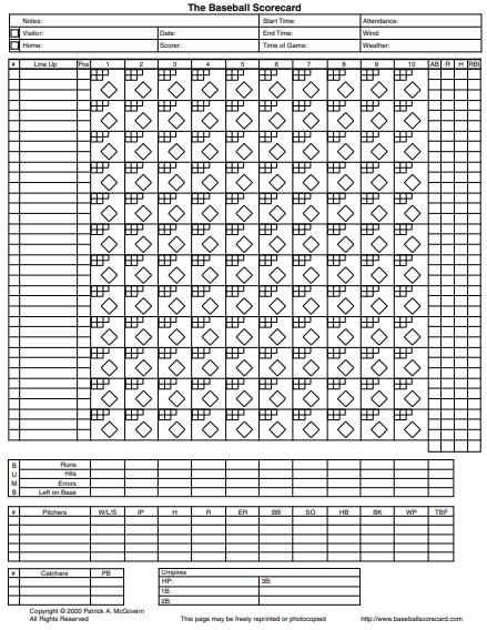 printable baseball scorecard template 7