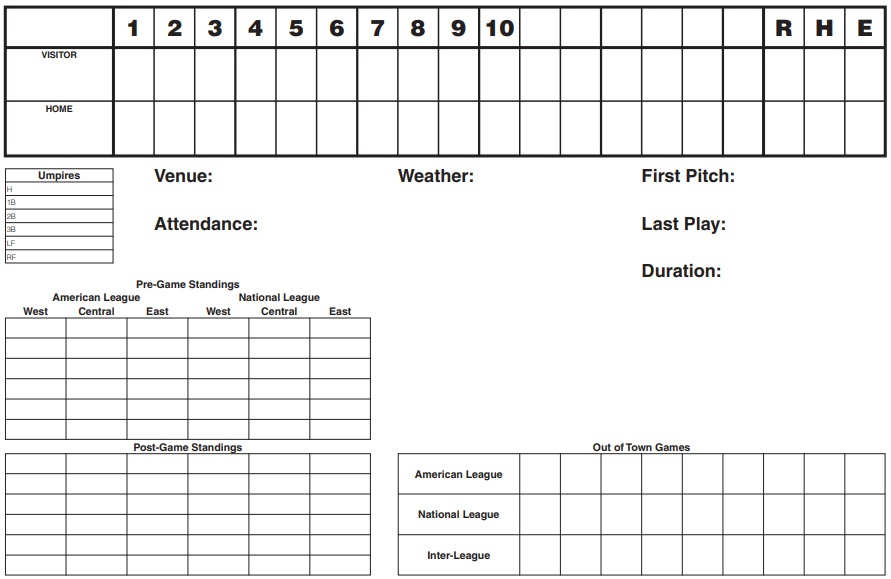 printable baseball scorecard template 8