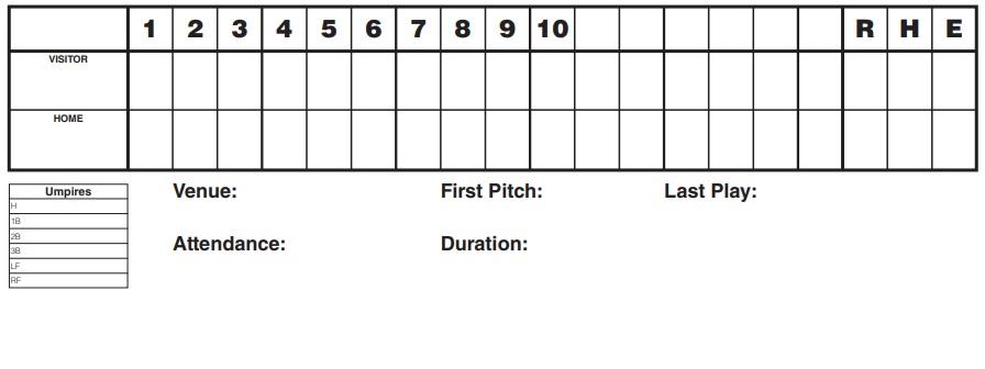 printable baseball scorecard template 9