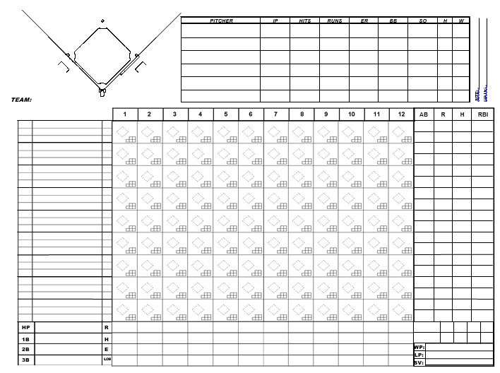 printable baseball scorecard template